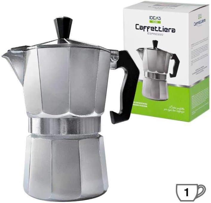 Girm® – HX906844 – Cafetera de aluminio – 1 taza – Moka para café ...