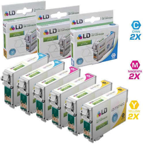 LD Products Remanufactured Ink Cartridge Replacement for Epson T127 ( Cyan,Magenta,Yellow , ()
