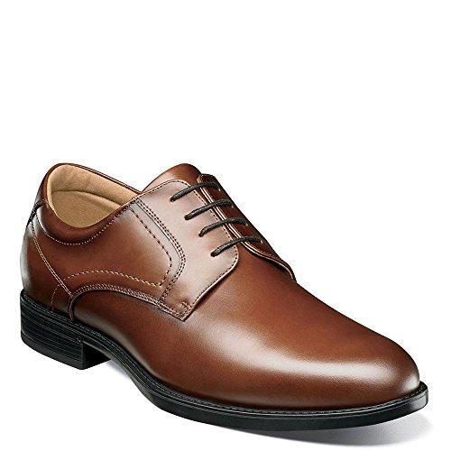 Mens Waterproof Oxford (Florsheim Men's Midtown Waterproof Plain Toe Oxford Cognac Smooth 9.5 D US)