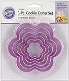 Wilton Nesting Plastic Cookie Cutter Set, Flowers, 6-Pack