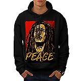 Bob Marley Singer Musician Men L Hoodie | Wellcoda