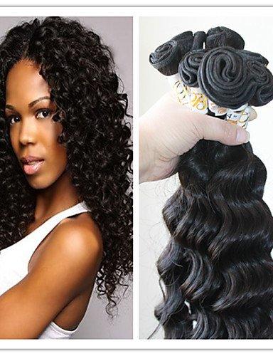 22 22 22-3pcs  JFF  3pc   lot indien trame de cheveux vague profonde couleur naturelle 100% cheveux humains regroupe les cheveux