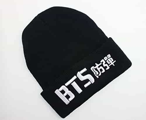 f7fcbee21cfed Fanstown-BTS Kpop Beanie BTS Bangtan 3D Embroidery hat with BTS lomo Cards
