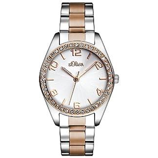 s.Oliver Time Damen Quarz Uhr mit Edelstahl Armband 9