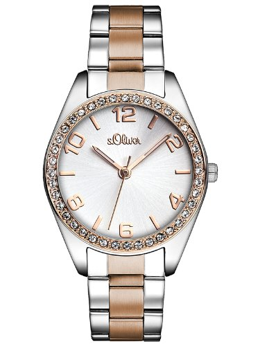 s.Oliver Time Damen Quarz Uhr mit Edelstahl Armband 1
