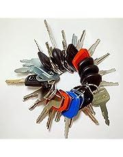 Heavy Equipment/Construction Ignition Key Set (30 Keys) Compatible with Volvo Caterpillar Komatsu Daewoo Bobcat
