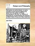 Diotrephes Re-Admonished, Job Orton, 1171018134