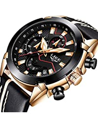 Watches for Men,LIGE Chronograph Waterproof Military...