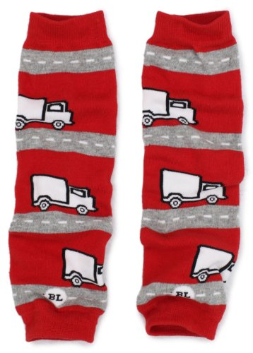Babylegs Baby-Boys Infant Special Delivery Leg Warmer, Red/Gray, One Size by BabyLegs