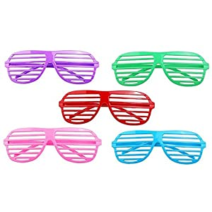 48 Neon Shutter Shades Glasses - Birthday Party Favor Supplies