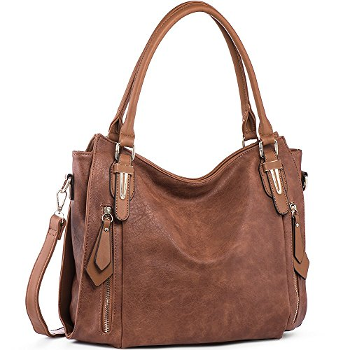 Women Ladies PU Leather Top Handle Bag - 2
