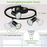 Unicozin 3-Light Spiral LED Track Lighting