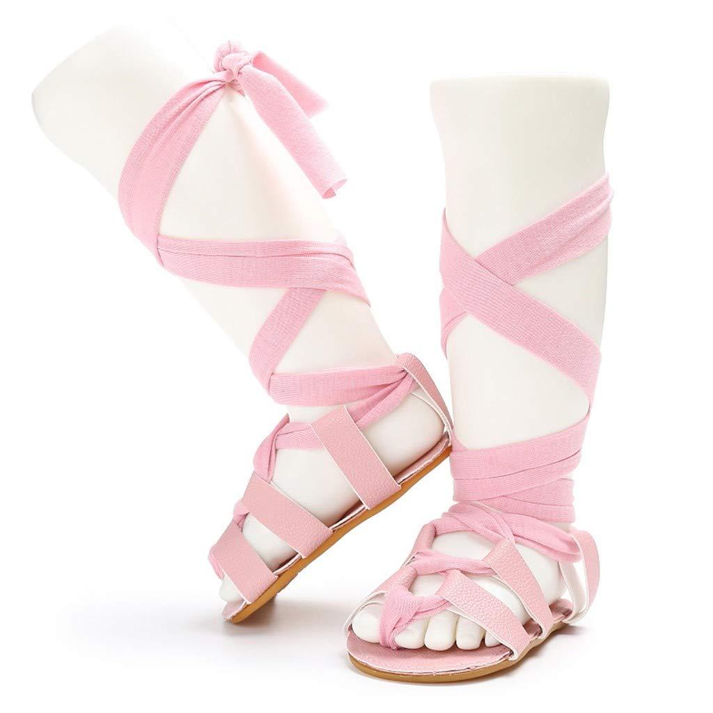 Newborn Infant Sandals Shoes Lace Up Roman Shoes Leather High Bandage Sandals Firstwalkers Shoes Memela