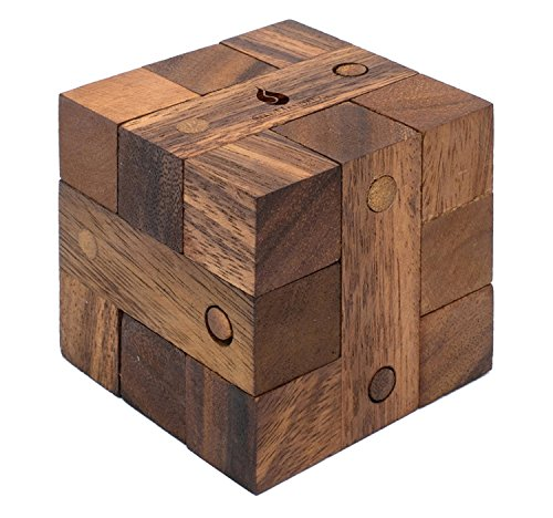 Ancient Key: Handmade & Organic 3D Brain Teaser Wooden Puzzle for Adults from SiamMandalay with SM Gift Box