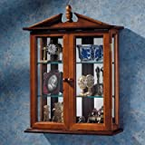 Glass Curio Cabinets - Amesbury Manor - Wall Mounted Curio Cabinet