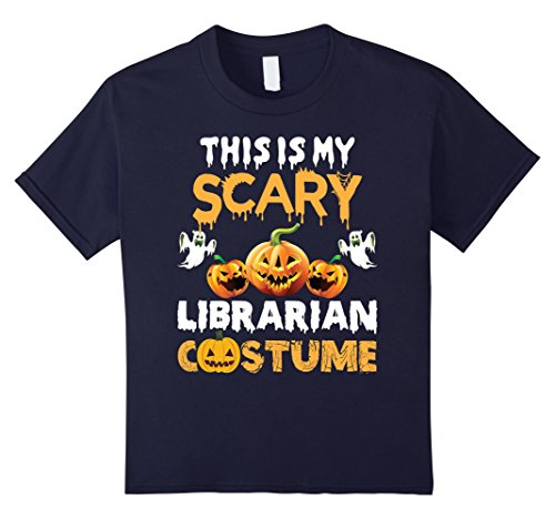 Kids This is my Scary Librarian Costume Halloween T-Shirt 12 (Children's Librarian Halloween Costumes)