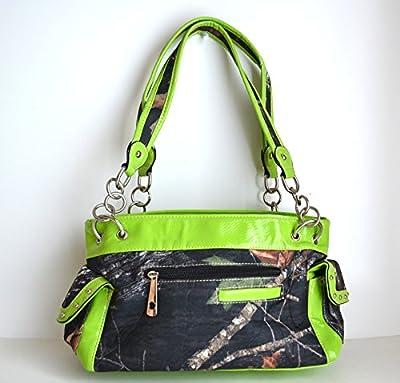 Green Western Camo Mossy Oak Rhinestone Cross Handbag Purse