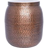 Better Homes and Gardens Radley 20.5 in. Outdoor Hammered Garden Stool