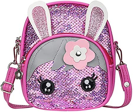 Amshine Sequins Children Cartoon School Backpack - Cute Rabb