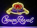 Desung Brand New 20''x16'' Crown Royal Whiskeyy Neon Sign (Various sizes) Beer Bar Pub Man Cave Business Glass Neon Lamp Light DB184