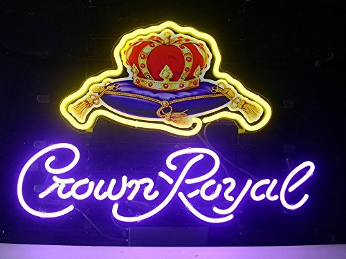 """Price comparison product image Desung Brand New 20""""x16"""" Crown Royal Whiskeyy Neon Sign (Various sizes) Beer Bar Pub Man Cave Business Glass Neon Lamp Light DB184"""