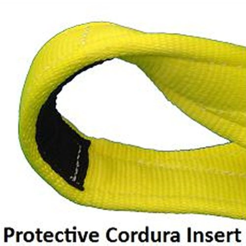 6'' x 20' Nylon Recovery Strap / Tow Strap with Cordura Eyes, Made in USA by US Cargo Control