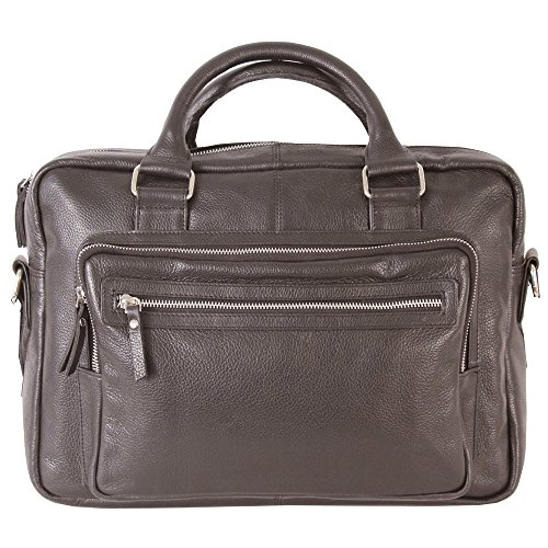 (Latico Leathers Barcelona Laptop Brief, Perfect for Business and Travel, Café)