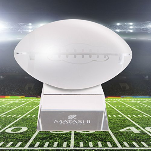 Matashi Great Superbowl Ornament Momento Crystal Paperweight...