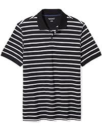 Men's Slim-Fit Striped Cotton Pique Polo Shirt