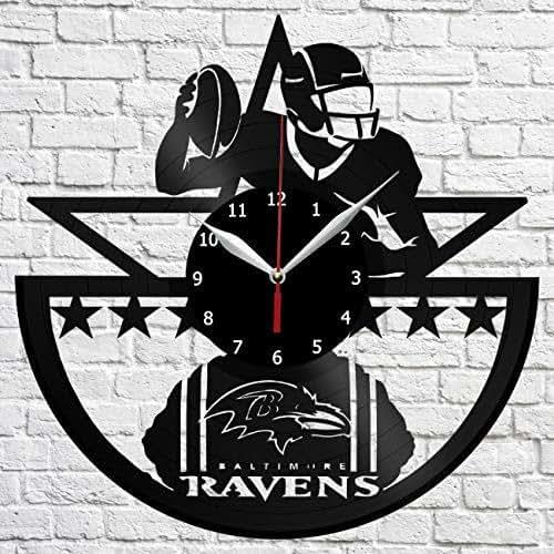 Baltimore Ravens Home Decor: Amazon.com: Baltimore Ravens Vinyl Record Wall Clock Decor