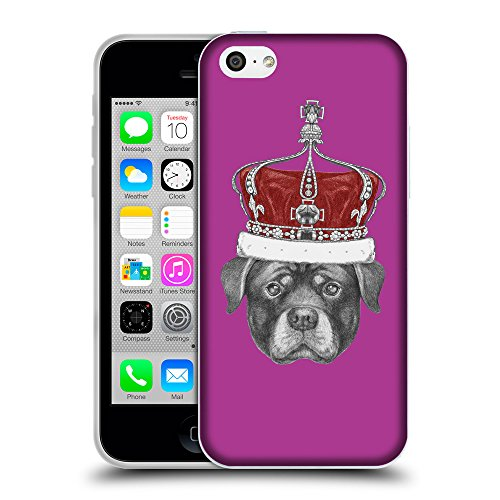 GoGoMobile Coque de Protection TPU Silicone Case pour // Q05450621 Rottweiler couronne byzantin // Apple iPhone 5C