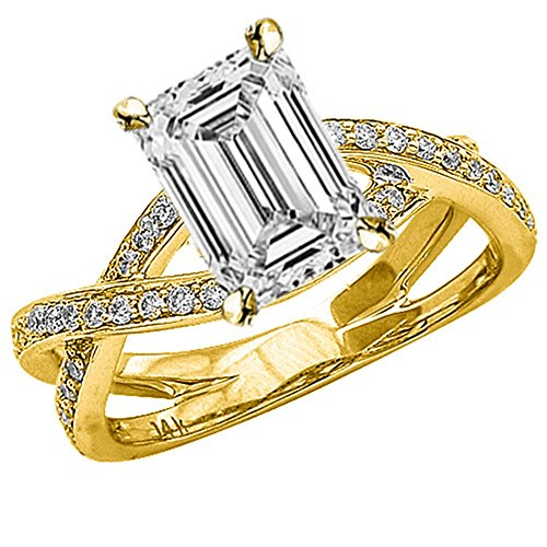 0.68 Ct Emerald Cut Diamond - 2
