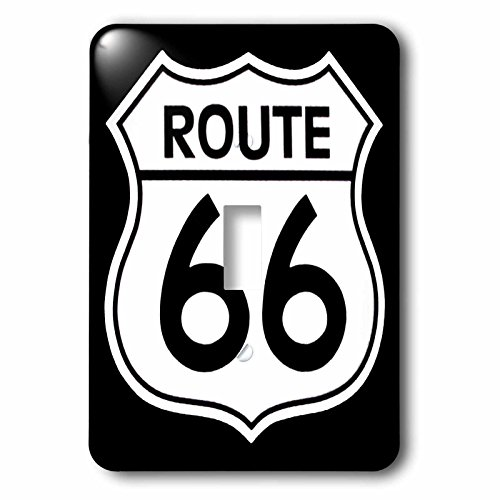 (3dRose lsp_110012_1 Route 66, Black and White Single Toggle Switch)