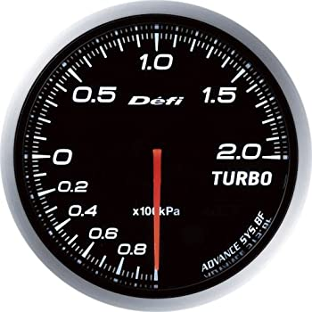 Defi DF09901 Advance BF Bar Boost Gauge, White, 60mm