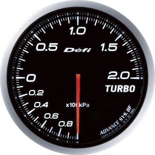 Defi DF09901 Advance BF Bar Boost Gauge, White, 60mm ()