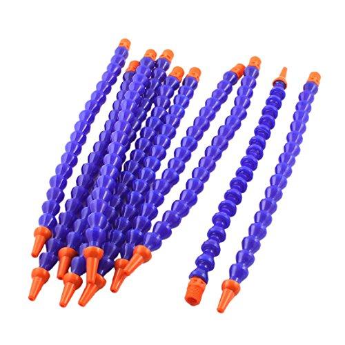 ODIAL(R) 10PCS Round Nozzle 1/4PT Flexible Oil Coolant Pipe Hose Blue Orange ()