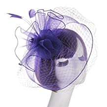APXPF Womens Charming Sinamay Flower Fascinator Hats with clips Cocktail Party Hats