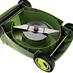 Sun joe mj401e 12 amp electric lawn mower 9 powerful: 13-amp motor cuts a 14-inch wide path adjustable deck: tailor cutting height with 3-position height control steel blades: durable 14-inch steel blade cuts with precision