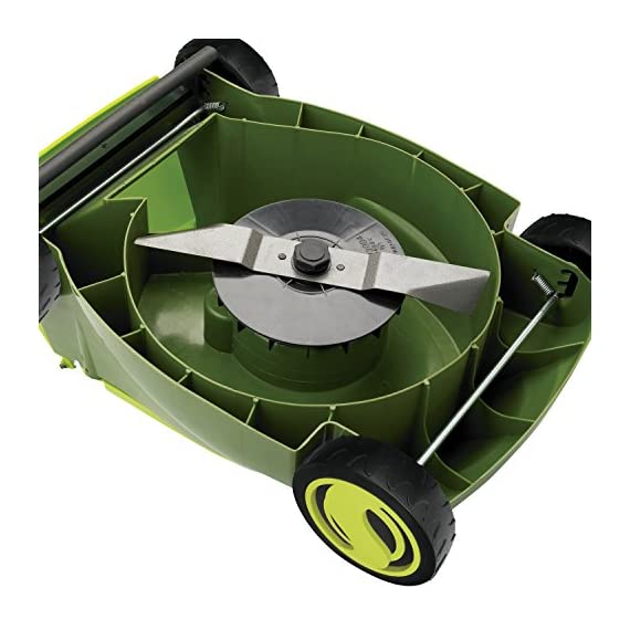 Sun joe mj401e 12 amp electric lawn mower 3 powerful: 13-amp motor cuts a 14-inch wide path adjustable deck: tailor cutting height with 3-position height control steel blades: durable 14-inch steel blade cuts with precision