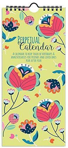 Silvia Birthday & Anniversary Perpetual Calendar, Annual Reminder (Anniversary Gift Calendar)