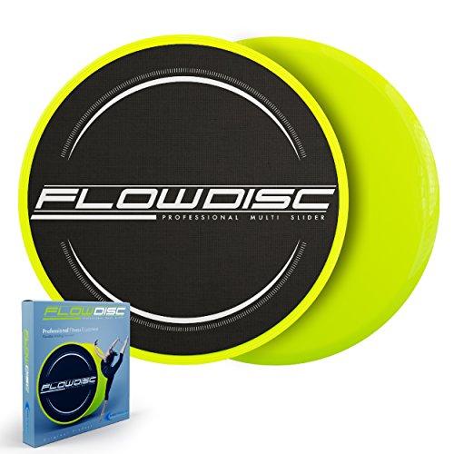 FlowDisc Exercise Sliders Engineered With Easy To Slide Innovation – Sliding Discs Core Sliders Set Of 2, Gliding Discs For Exercise On Floors And Carpet