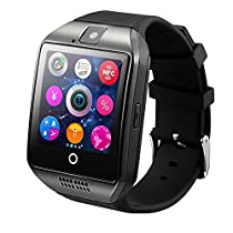 Efanr Q18 Bluetooth Smart Wrist Watch Smartwatch WristWatch Phone Mate Pedometer Fitness Activity Tracker Wristband NFC with Camera SIM TF Card Slot for Android Smartphones (Black)