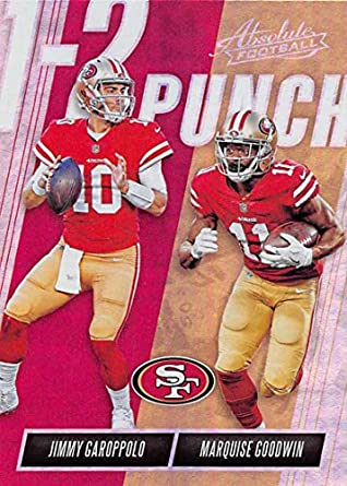 low priced ff56a df54a Amazon.com: 2018 Absolute Football One Two (1-2) Punch #16 ...