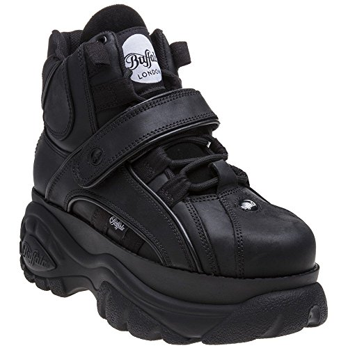Buffalo Womens Classics 2.0 Leather Negro Boots 7.5 US