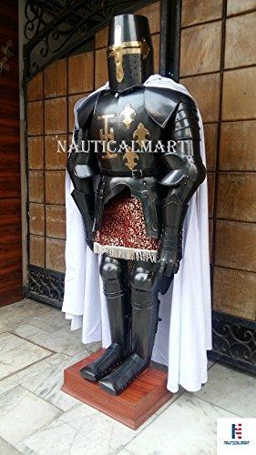 Rare Medieval Knight Suit Of Templar Armor W/Sword Combat Full Body Armour by NAUTICALMART (Image #1)