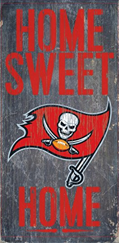 Tampa Bay Buccaneers Wood Sign - Home Sweet Home 6''x12'' ()