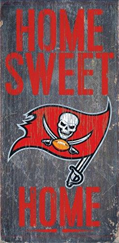 Tampa Bay Buccaneers Wood Sign - Home Sweet Home 6''x12'' (Tampa Sweet)