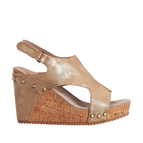 Antilop Kvinna 744 Metallic Läder Hi Träffade Zip Sandaler Guld