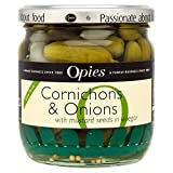Opies Cornichons & Onions with Mustard Seeds (400g) - Pack of 6