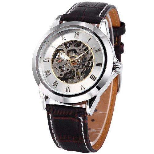 Gallant Demeter mecánica automático reloj de pulsera esqueleto automático reloj tiempo de precios asequibles moderna y los Diseño Negro Piel: Amazon.es: ...